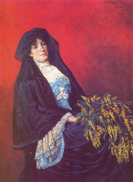 Mimozalı Kadın
