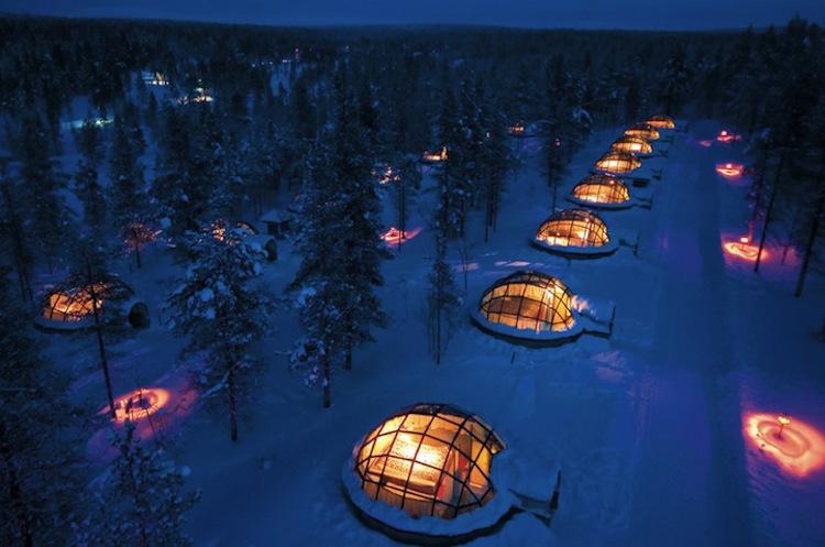 <strong>Kaksauttanen Glass Igloos, Finlandiya</strong>