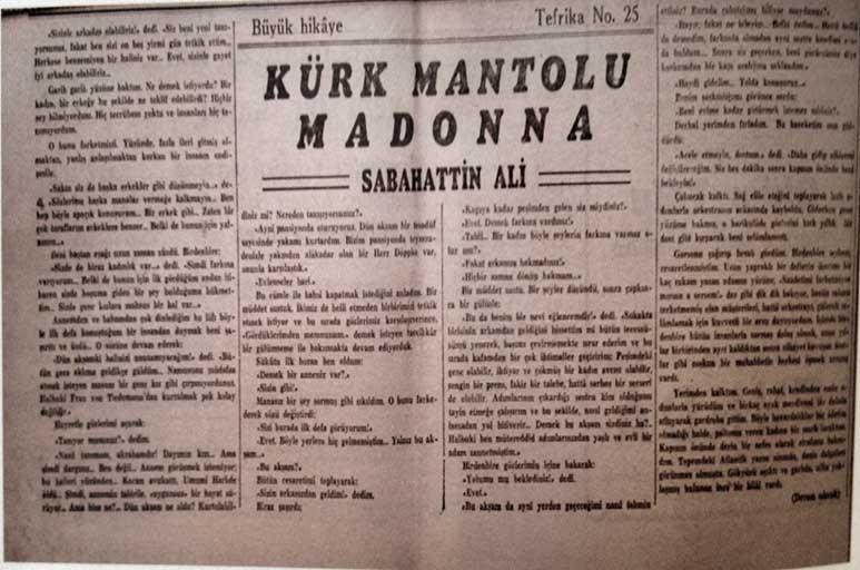 İlk kez gazetede tefrika olarak yayınlandı