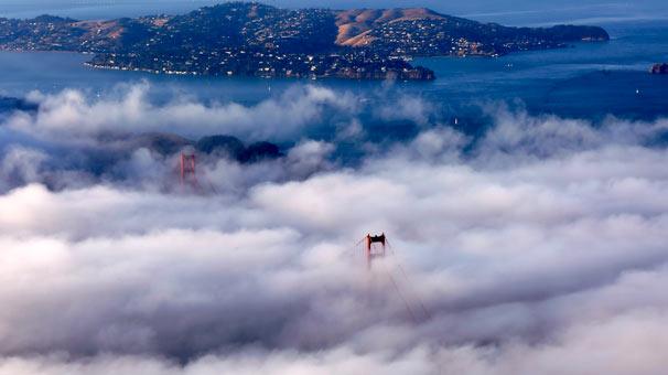 <strong>Golden Gate Köprüsü sis içinde - Tayfun Coşkun</strong>
