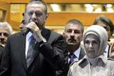 Erdoğan'a coşkulu karşılama!