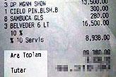 Yok böyle bir kazık! Bodrum'da bir barda gelen fatura...