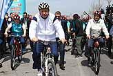 Erdoğan, pedal çevirdi korumalar depar attı