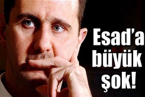 Esad'a büyük şok