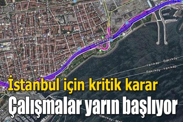 Bakırköy sahilyolu Avrasya Tüneli ile uyumlu hale gelecek