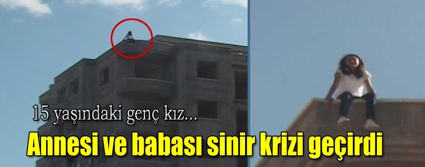 8 katlı binanın tepesinden atlamak istedi
