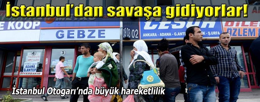 İstanbul'dan Kobani'ye savaşmaya gidiyorlar