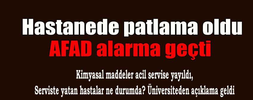 Ankara'da hastanede patlama