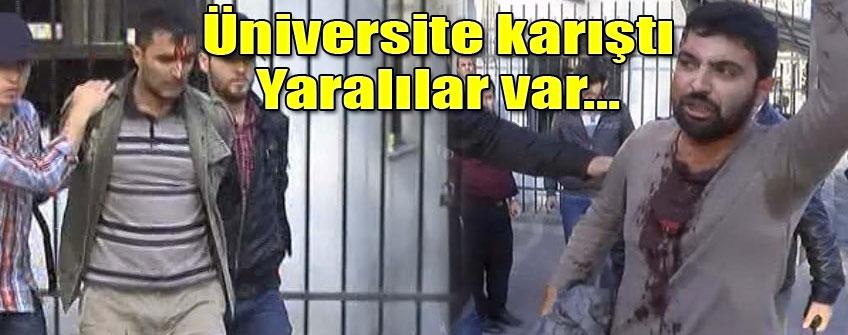 İstanbul Üniversitesi'nde olay