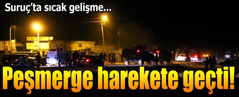 Peşmergeler Kobani'ye geçti