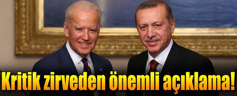 Cumhurbaşkanı Erdoğan ile Joe Biden'dan ortak açıklama
