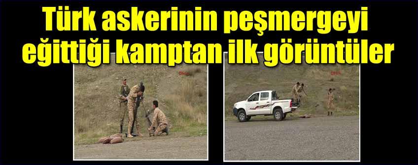Türk askerinin peşmergeyi eğittiği kamptan ilk görüntüler