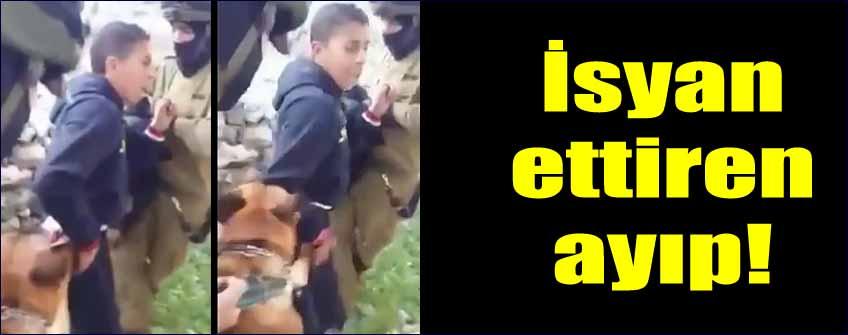 İsrailli askerlerlerden köpekli işkence