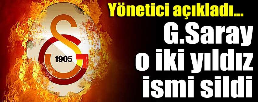 Galatasaray 2 oyuncuyu resmen sildi!