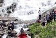 Derebağ şalalerine turist akını