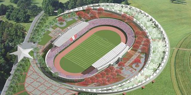 Türkiye'nin ilk Ay-Yıldızlı stadı tamamlandı