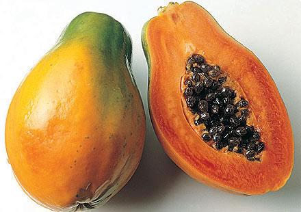 малина и папайя