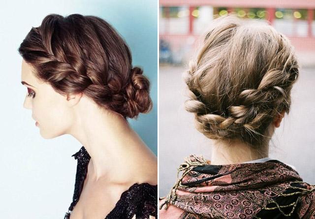 Прически косы на волосы до плеч фото