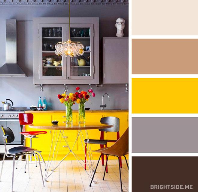 Mutfak için en iyi renk kombinasyonları
