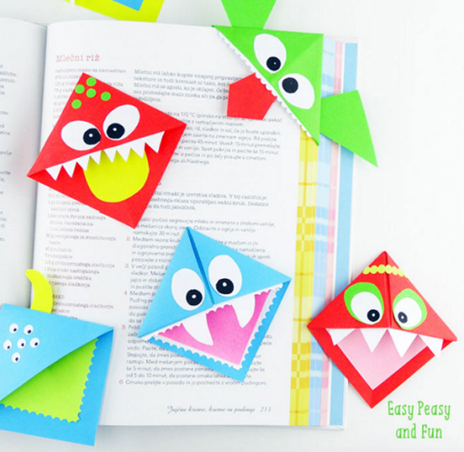 Как сделать закладку для книги из бумаги уголок