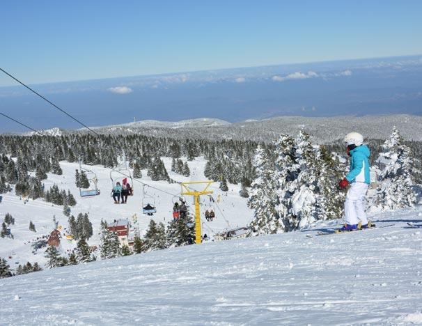 Uludağ'da kayak sezonu devam ediyor