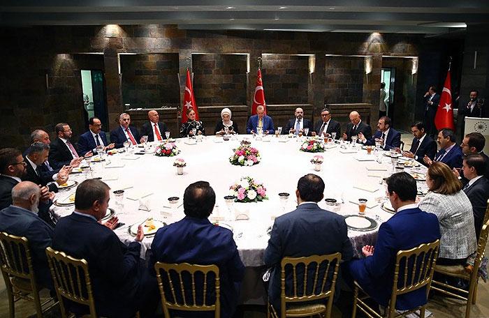 Cumhurbaşkanı, iftarda medya temsilcileri ile biraraya geldi