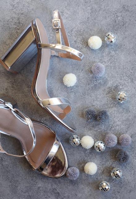 Ponponlu abiye ayakkabı yapımı