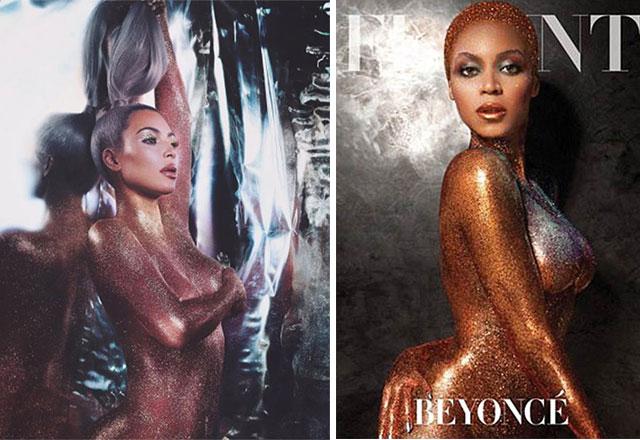 Kim Kardashian'dan Beyonce pozu