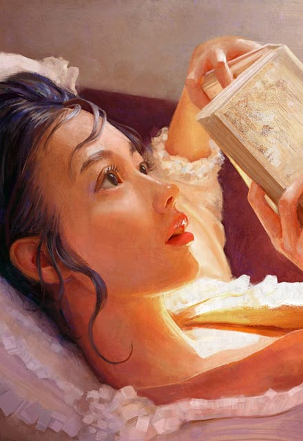 Eşsiz bir kadın portre sanatçısı Mandy Jurgens