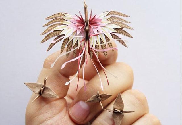 Göz alıcı origami çalışmaları