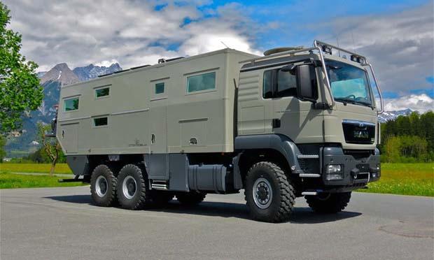 Zırhlı kamyondan lüks rezidans yaptılar