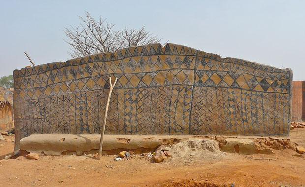 Burkina Faso'da sanat eseri evler