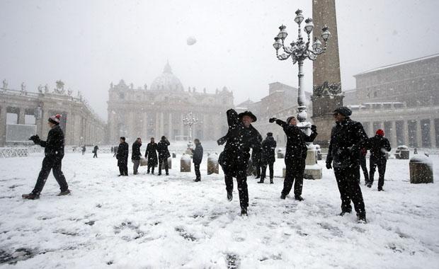 Venedik'ten kar manzaraları