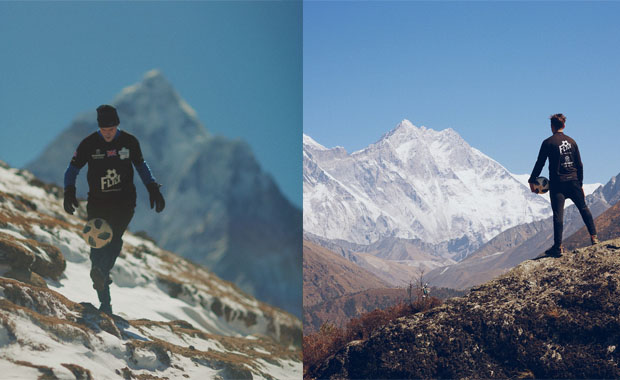 Alzheimer'a dikkat çekmek için top sektirerek Everest'e çıktı