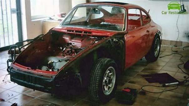 1965 üretimi Porsche marka aracını böyle yeniledi!
