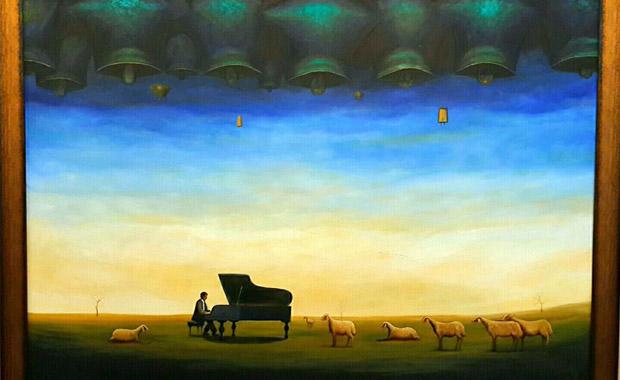 Yörük çadırından çıkan çoban ressam