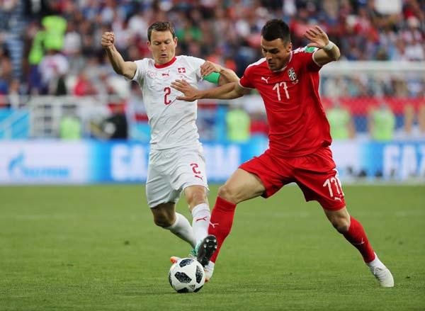 Sırbistan - İsviçre maçından kareler