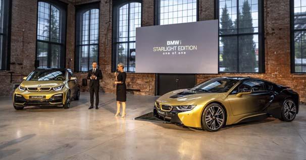 24 karat altın kaplamalı BMW i3 ve i8!