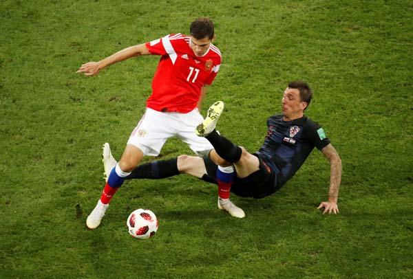 Rusya - Hırvatistan maçından kareler