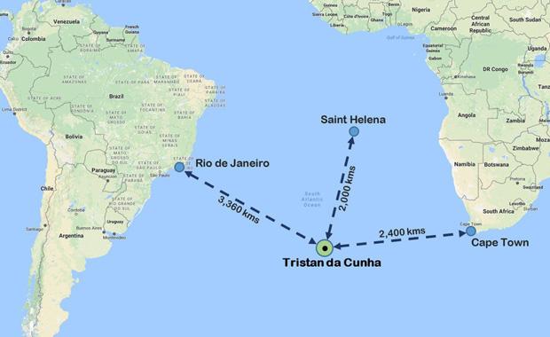 Dünyanın en uzak noktası Tristan de Cunha