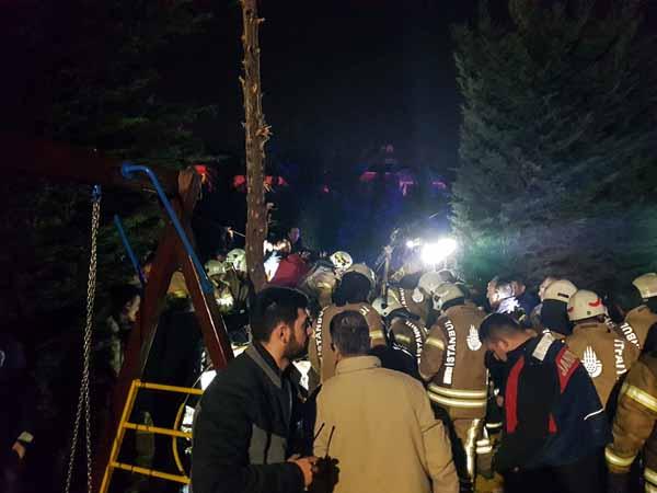 İstanbul Çekmeköy'de askeri helikopter düştü: Olay yerinden ilk görüntüler