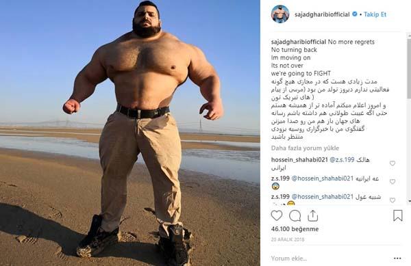 İranlı Hulk'a dev meydan okuma! 'Kafanı koparacağım'