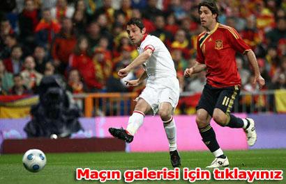 İspanya:1 Türkiye:0 (Maç sonucu)