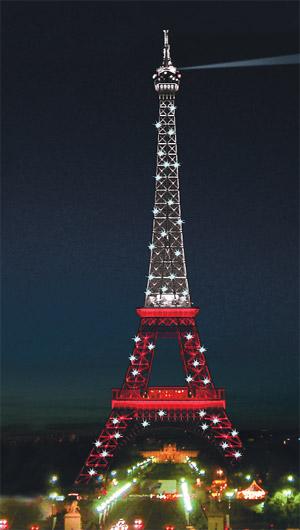 Kırmızı beyaz Eyfel Fransa'yı karıştırdı