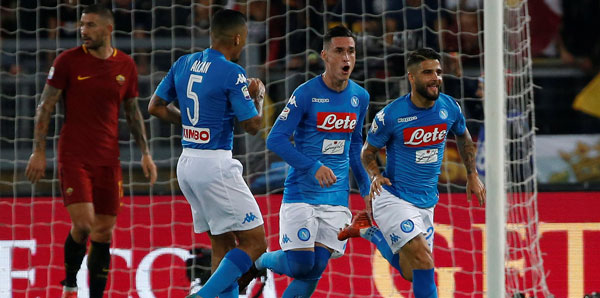 Image result for roma 0-1 napoli