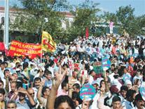 Kadıköy'de barış mitingi