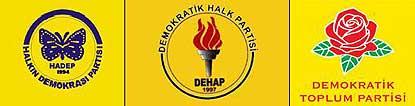 HEP, DEP ve HADEP de kapatılmıştı