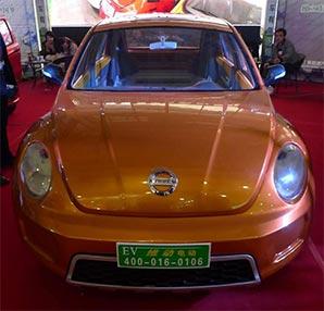 Çinliler'den Nissan ve Volvo logolu Volkswagen kasalı araba