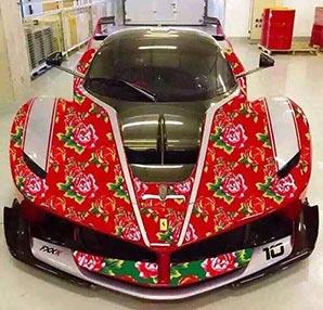 Bu çiçek desenli Ferrari gerçek olabilir mi?