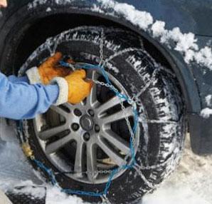 Kar zinciri araba lastiğine nasıl takılır?